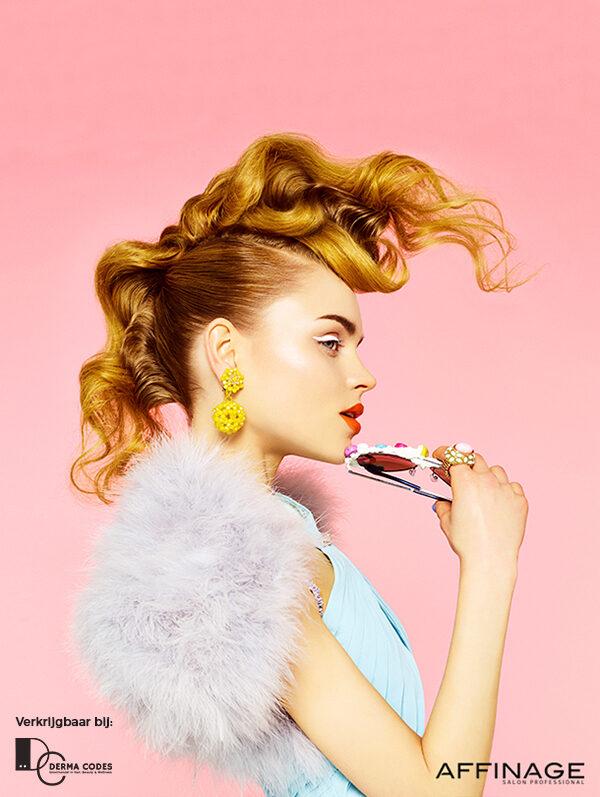 Opsteekkapsels yellow hair Jolange Opleidingen