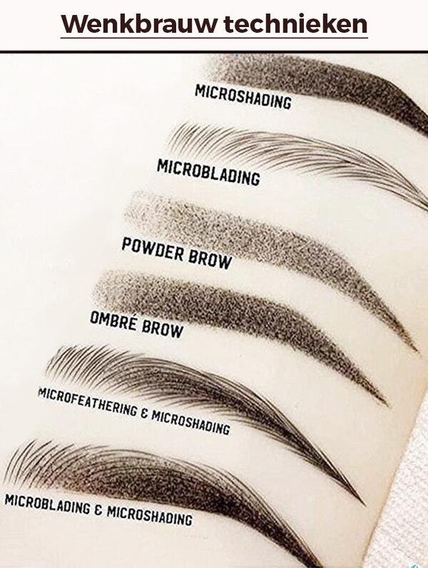 wenkbrauw technieken hairstroke